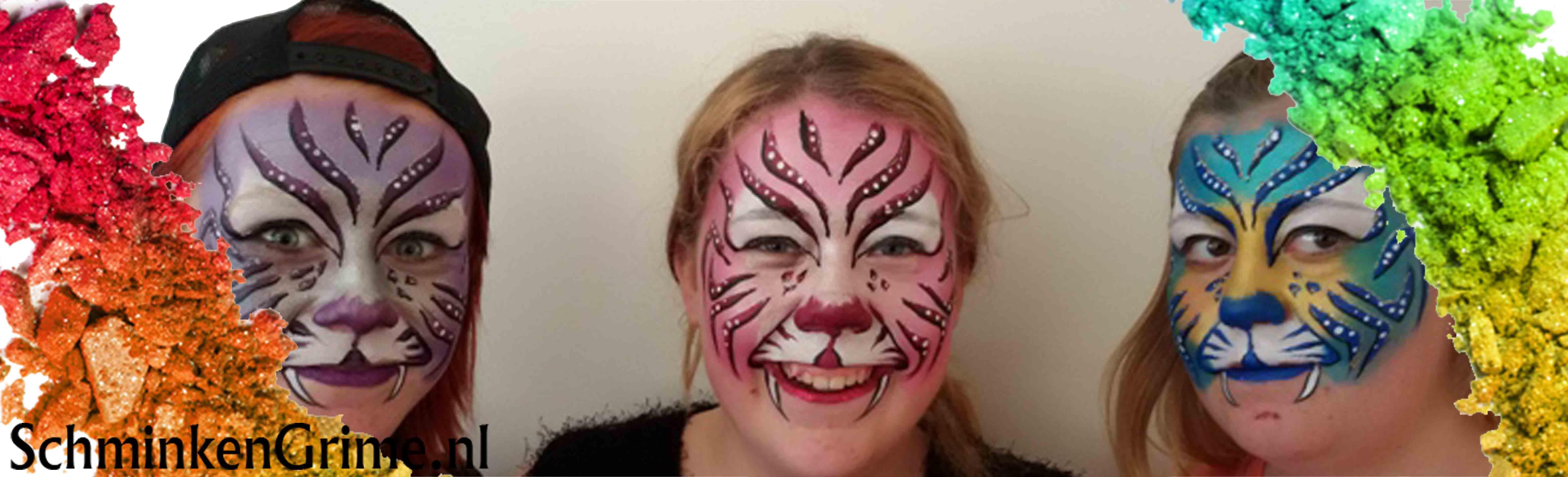 Genoeg SchminkenGrime.nl | Een eenvoudige tijger schminken, deel 2 @LF63