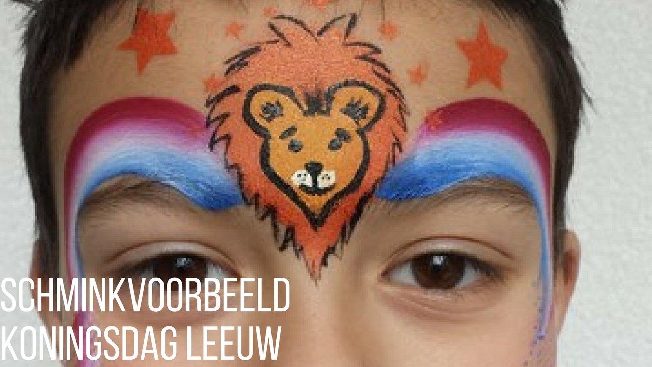 Iets Nieuws SchminkenGrime.nl | Stap voor Stap Schminkvoorbeeld Koningsdag Leeuw &KA44