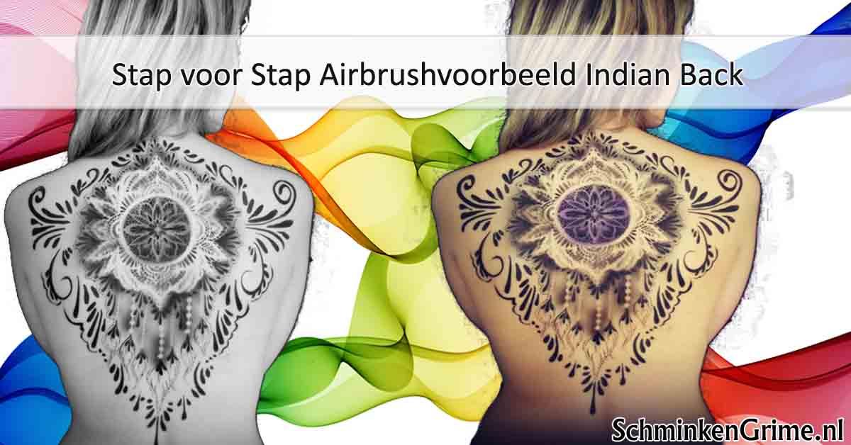 Stap voor Stap Airbrushvoorbeeld Indian Back