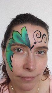 Stap voor Stap Schminkvoorbeeld Vlinder