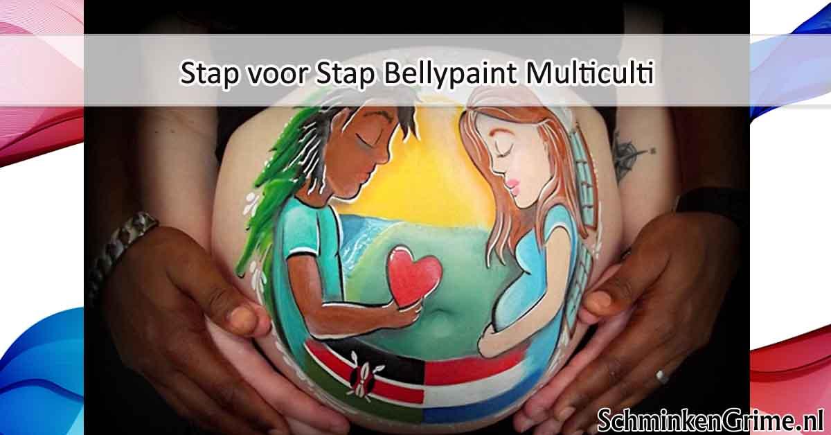 Stap voor Stap BellyPaint Multiculti
