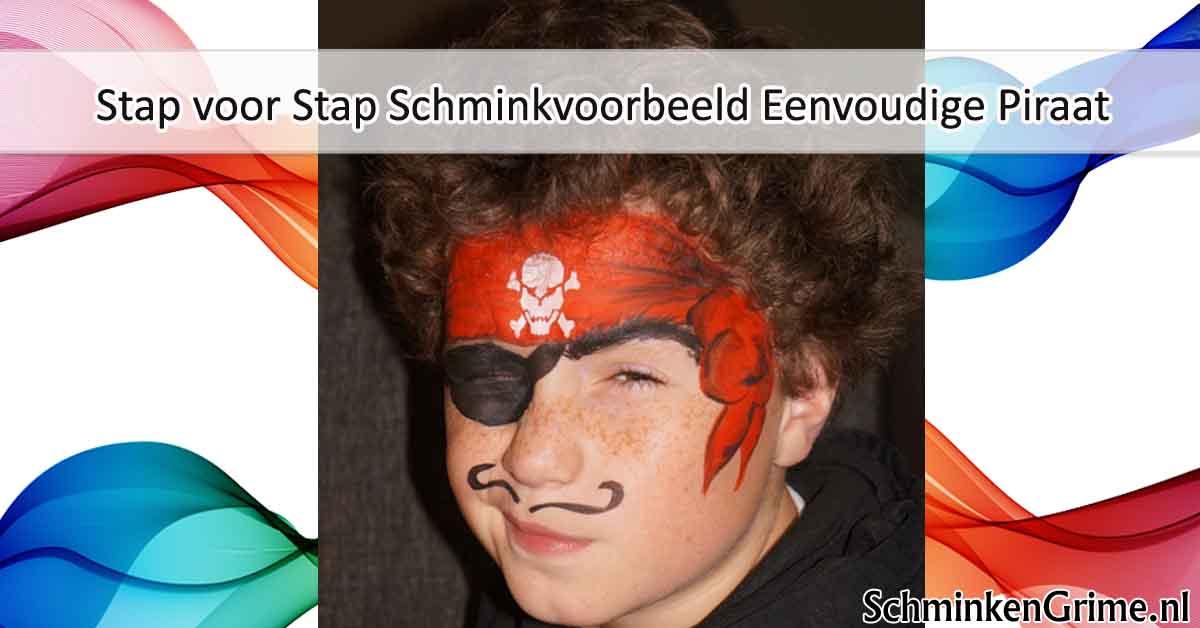 Populair SchminkenGrime.nl blog | Schminkvoorbeeld Eenvoudige Piraat #IA54