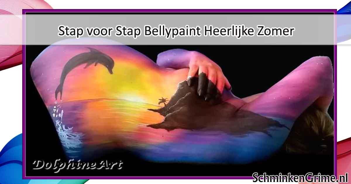 Stap voor Stap BellyPaint Heerlijke Zomer