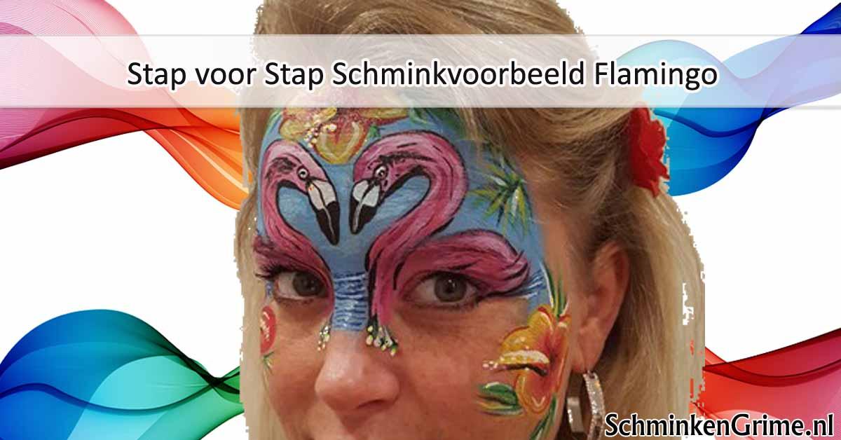 Populair SchminkenGrime.nl blog | Stap voor Stap Schminkvoorbeeld Flamingo  #RW95