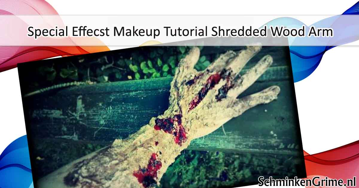 Special Effects Makeup Tutorial Shredded Wood Arm