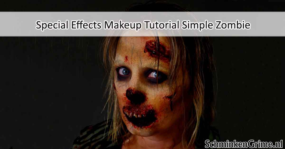 Special Effects Makeup Tutorial Simple Zombie
