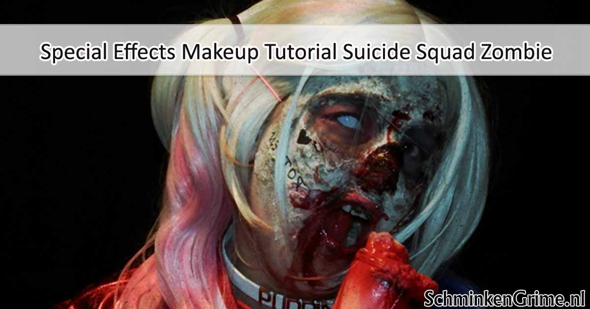 Special Effects Makeup Tutorial Suicide Squad Zombie