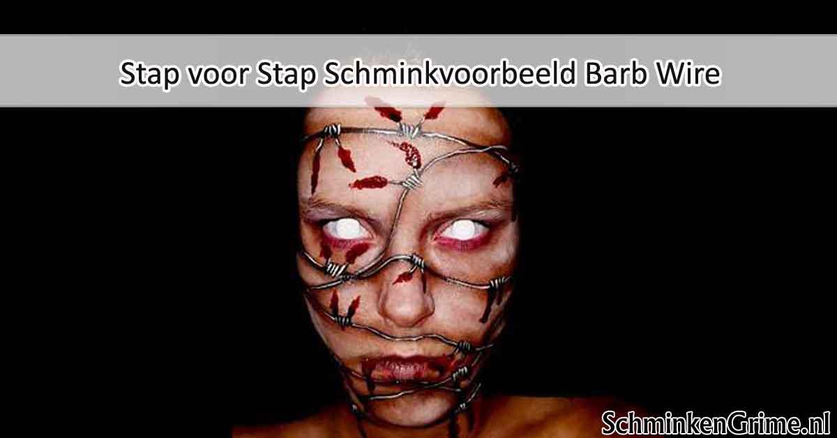 Stap voor Stap Schminkvoorbeeld Barb Wire