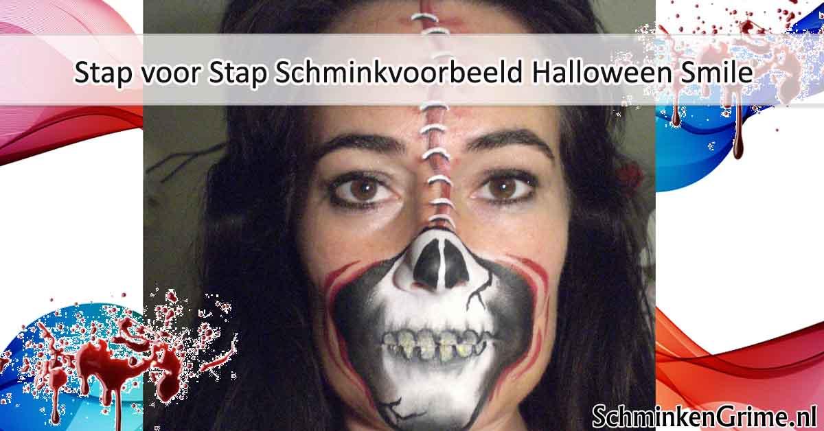 Halloween Filmpjes Nederlands.Schminkengrime Nl Stap Voor Stap Schminkvoorbeeld