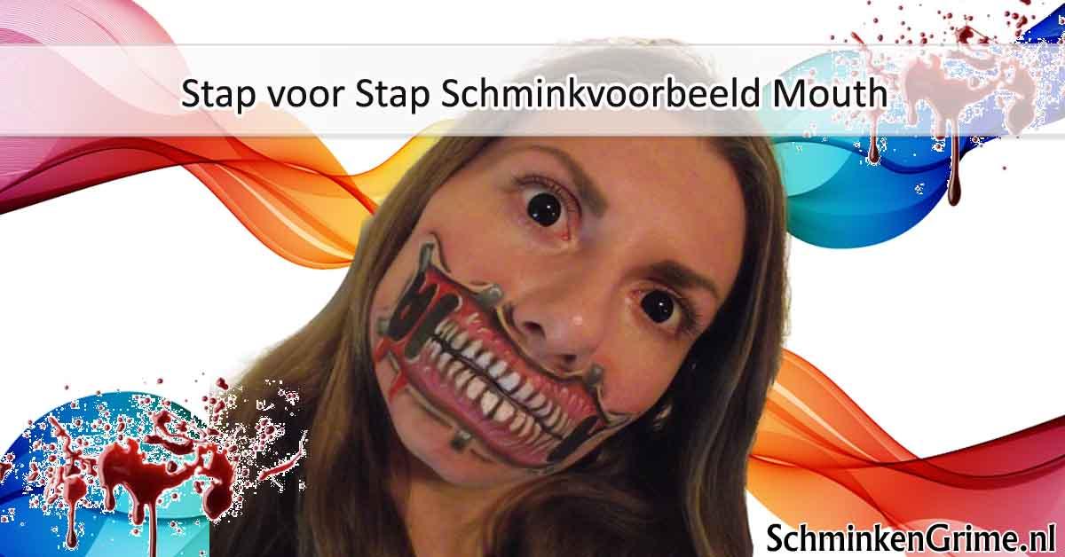 Stap voor Stap Schminkvoorbeeld Mouth