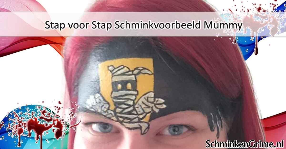 Stap voor Stap Schminkvoorbeeld Mummy