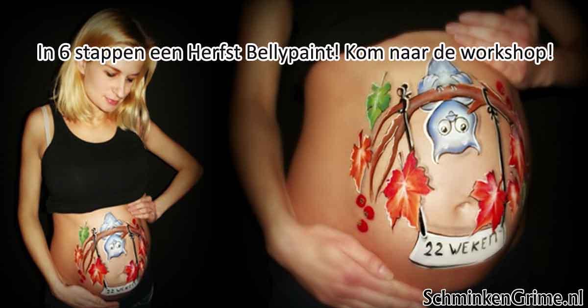 In zes stappen een Herfst Bellypaint