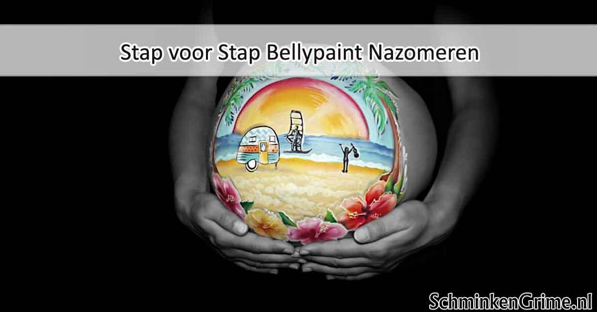Stap voor Stap Bellypaint Nazomeren
