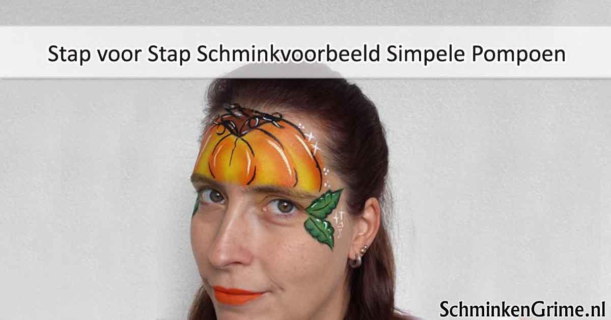 Stap voor Stap Schminkvoorbeeld Simpele Pompoen