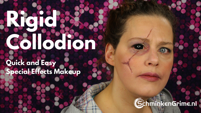 How to use Mehron Rigid Collodion Scaring Liquid