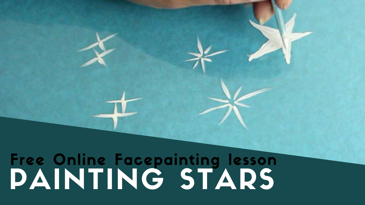Free Online Facepainting lesson 6 Stars