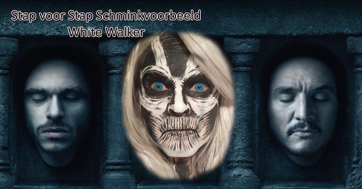 Stap voor Stap Schminkvoorbeeld White Walker