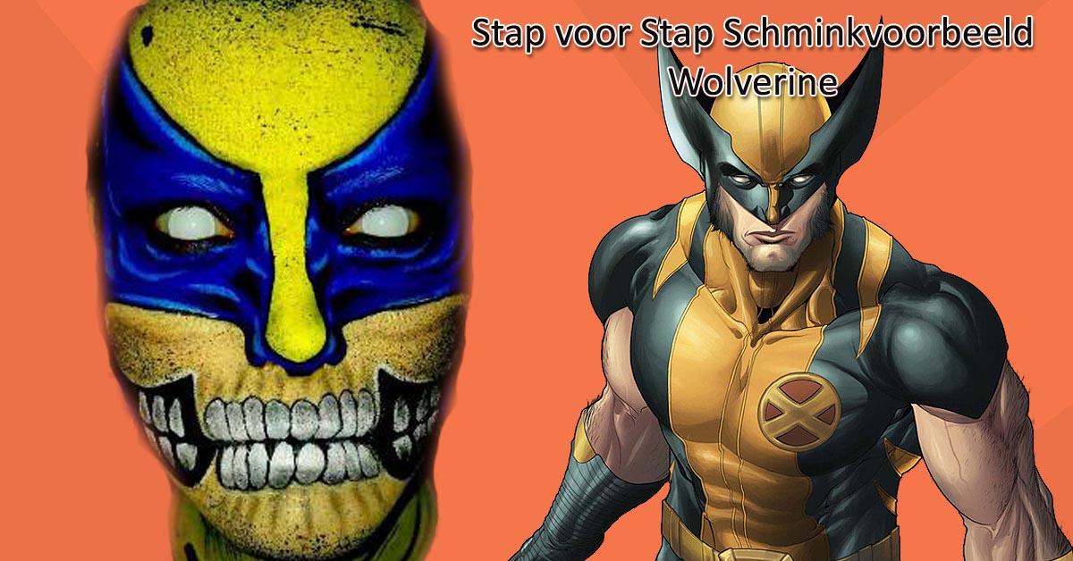 Stap voor Stap Schminkvoorbeeld Wolverine