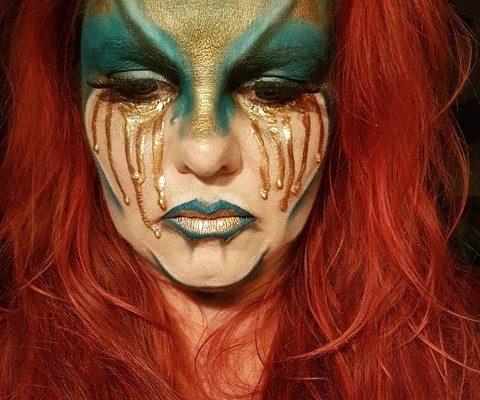 Schminkvoorbeeld Golden Tears 13