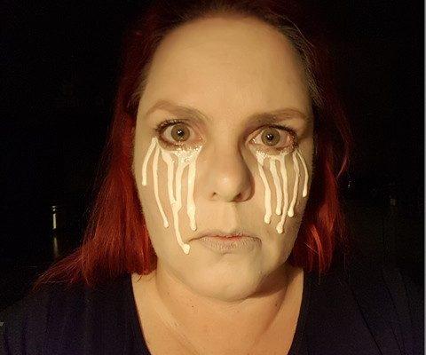 Schminkvoorbeeld Golden Tears 3