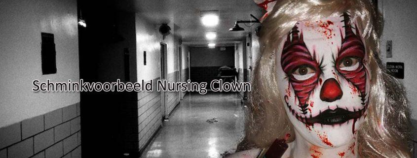 Schminkvoorbeeld Nursing Clown