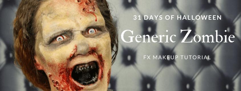 Generic Zombie Makeup Tutorial   Halloween Makeup   Video Tutorial