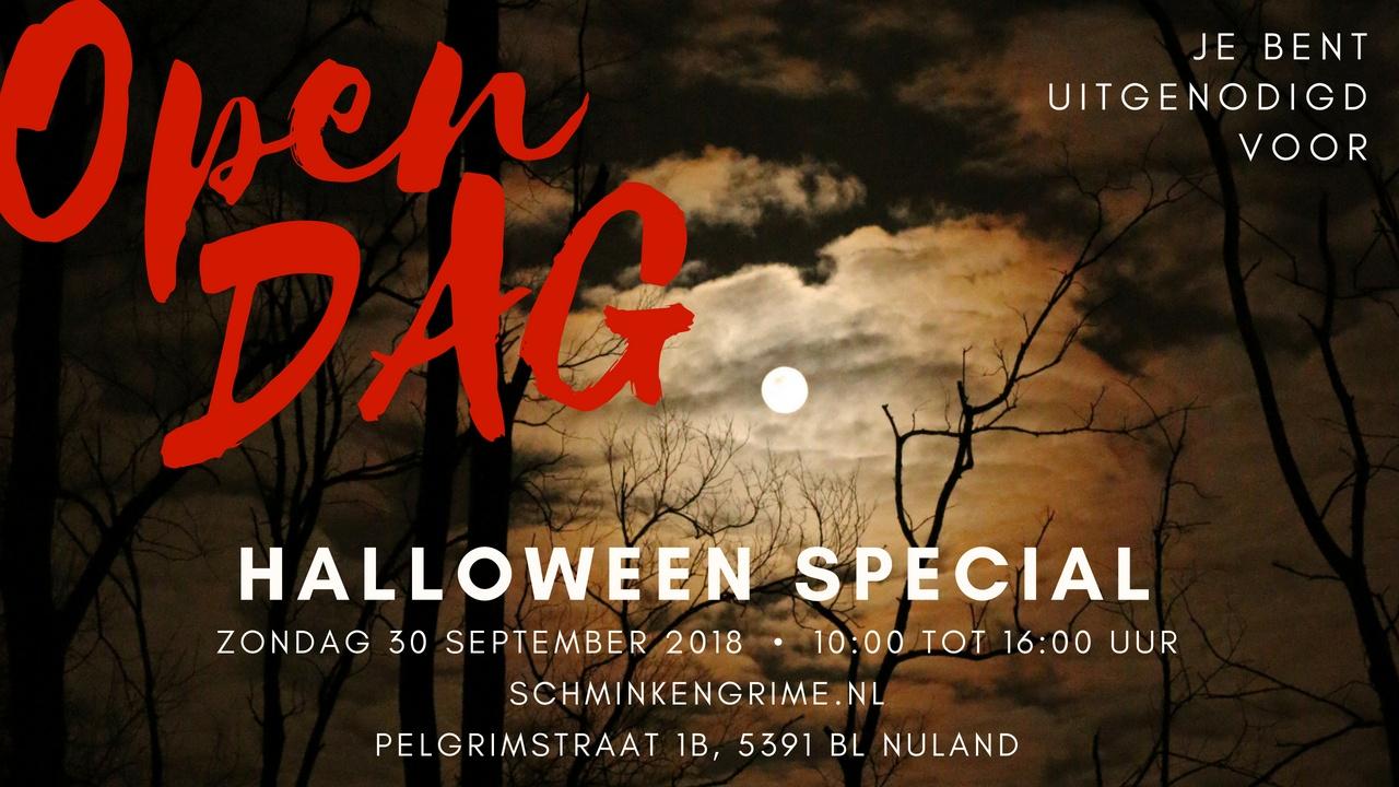Dag Halloween.Schminkengrime Nl Halloween Open Dag 1 Oktober 2017