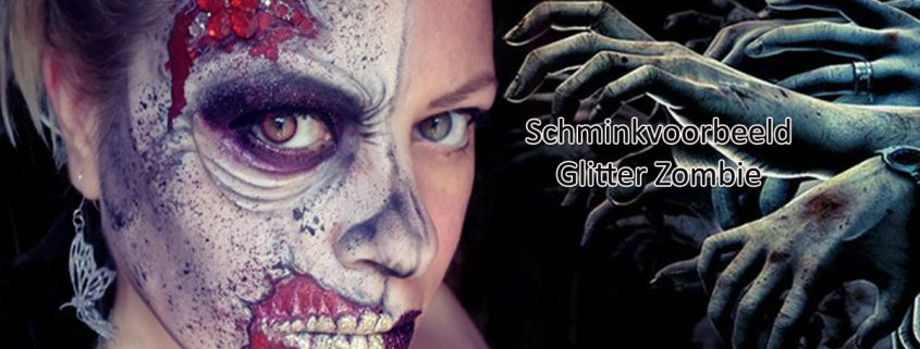 Schminkvoorbeeld Glitter Zombie
