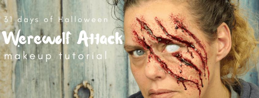 Werewolf Attack Makeup Tutorial   Halloween Makeup   Video Tutorial