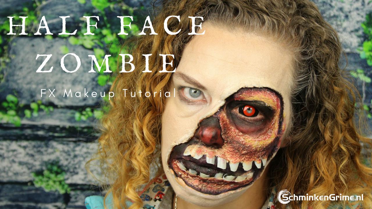 Half Face Zombie Makeup Tutorial