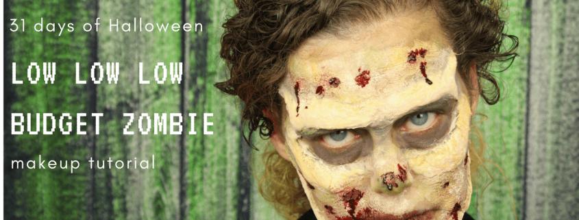 Low Budget Zombie Makeup Tutorial   Halloween tutorial   Video Tutorial