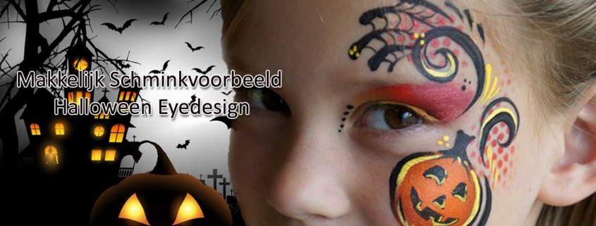 Makkelijk Schminkvoorbeeld Halloween Eyedesign