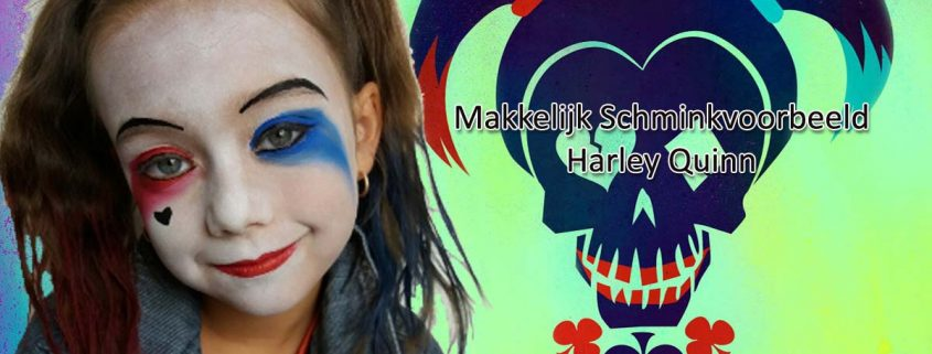 Makkelijk Schminkvoorbeeld Harley Quinn