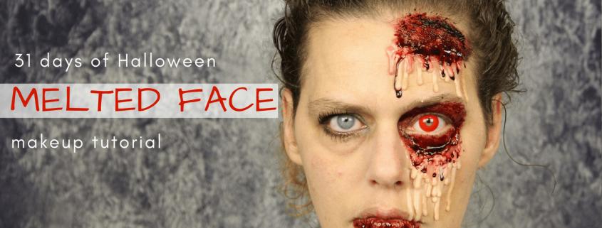 Melted Face Makeup Tutorial   Halloween