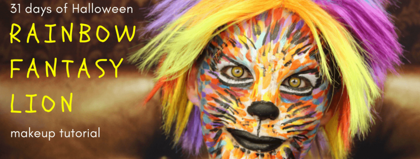 Rainbow Fantasy Lion Makeup Tutorial   Halloween tutorial   Video Tutorial