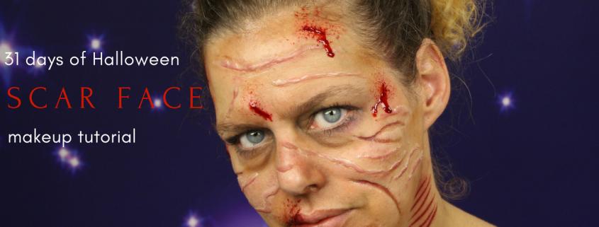 Scar Face Makeup Tutorial   Halloween Makeup   Video Tutorial