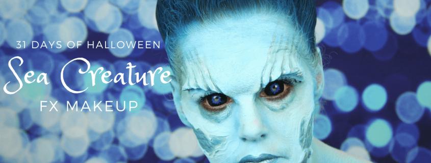 Sea Creature Makeup Tutorial   Video   31 days of Halloween