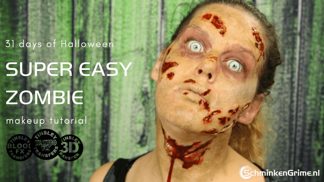 Easy Zombie Makeup Tutorial | Halloween Makeup | Video Tutorial