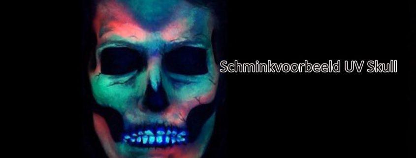 Schminkvoorbeeld UV Skull