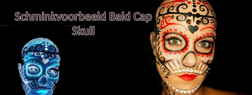 Schminkvoorbeeld Bald Cap Skull