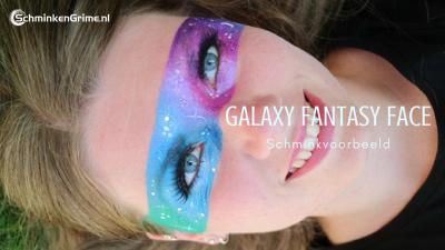 Schminkvoorbeeld Galaxy Fantasy Face
