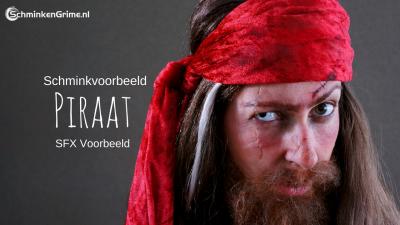 Schminkvoorbeeld/SFX Piraat