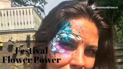 Schminkvoorbeeld Festival Flower Power