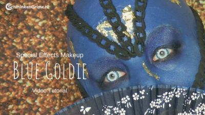 Special Effects Makeup Video Tutorial Blue Goldie