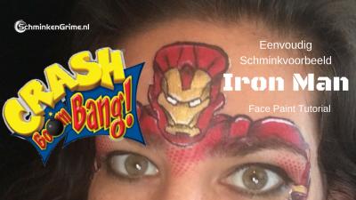 Eenvoudig Schminkvoorbeeld Iron Man