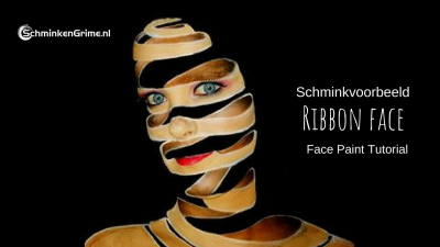 Schminkvoorbeeld Ribbon Face