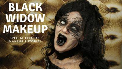 Black Widow Special Effects Makeup Tutorial