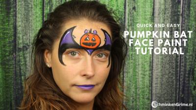 Makkelijk Schminkvoorbeeld Pumpkin Bat