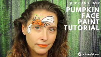 Snel Schminkvoorbeeld Pumpkin Facepaint
