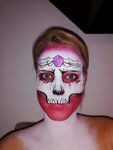 Schminkvoorbeeld Skull of Darkness